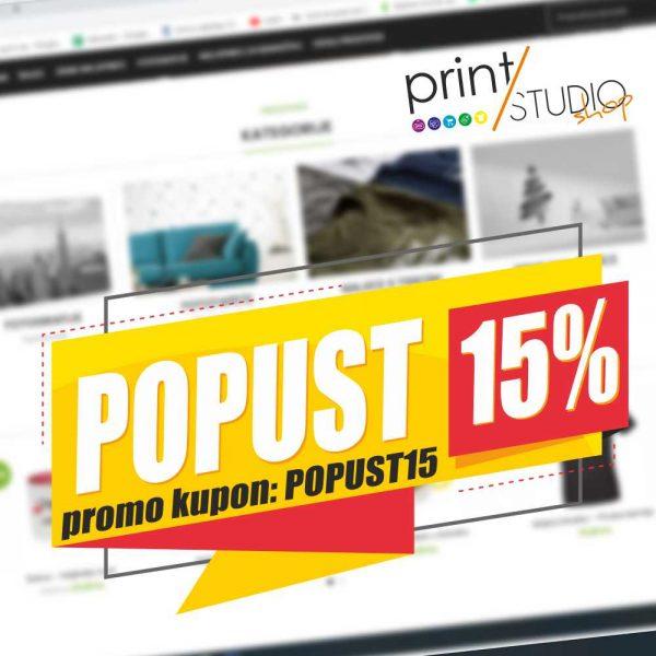 Popust 15 posto banner - Print Studio Osijek webshop